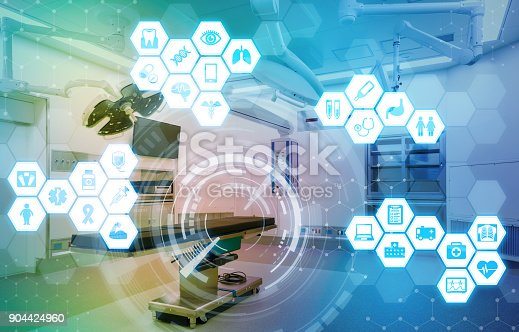 istock Medical technology and communication network concept. 904424960