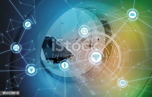 istock Medical technology and communication network concept. 904426618