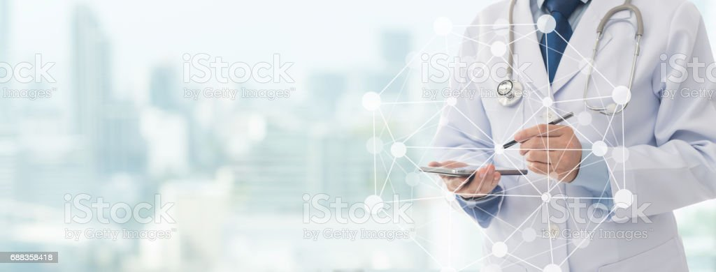 medical technology communication stock photo