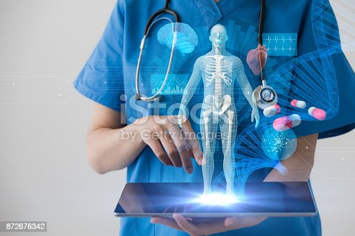 istock Medical technology concept. Electronic medical record. 872676342