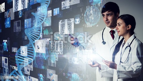 864464934istockphoto Medical technology concept. Gene therapy. Electronic medical record. 1168356748