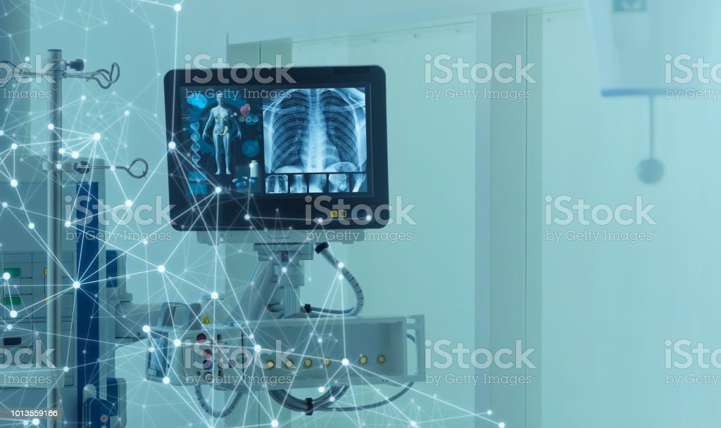Medical technology concept. Medical instruments. stock photo
