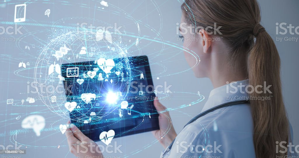 Medical technology concept. stock photo