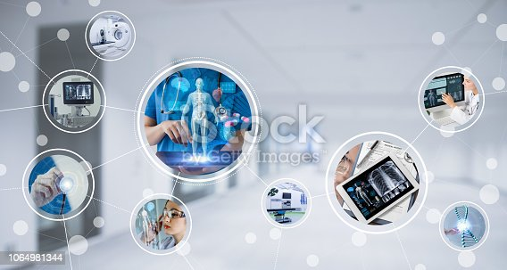 istock Medical technology concept. 1064981344
