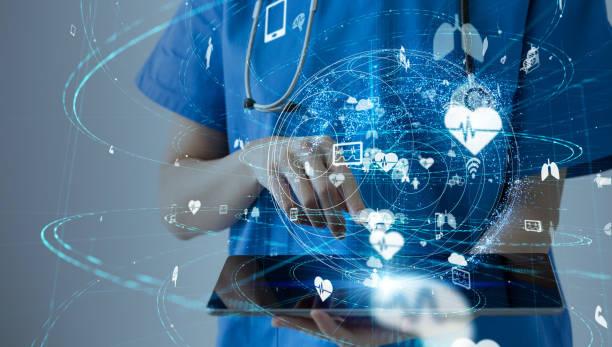 концепция медицинских технологий. - технологии стоковые фото и изображения