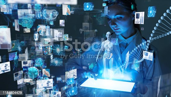 864464934istockphoto Medical technology concept. Remote medicine. Electronic medical record. 1184804429