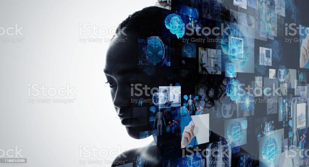 Medical technology concept. Remote medicine. Electronic medical...