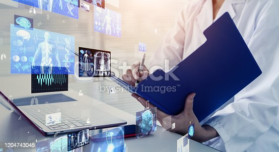 966874060istockphoto Medical technology concept. Remote medicine. Electronic medical record. 1204743045