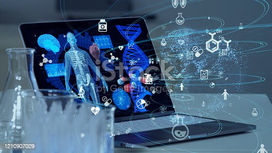 966874060istockphoto Medical technology concept. Remote medicine. Electronic medical record. 1210907029