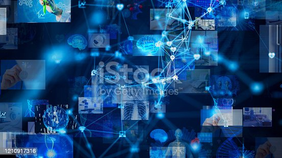966874060istockphoto Medical technology concept. Remote medicine. Electronic medical record. 1210917316
