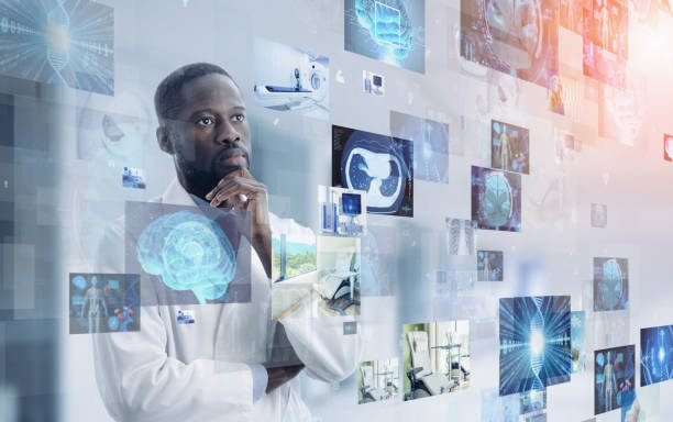 Medical technology concept. Remote medicine. Electronic medical record. Medical technology concept. Remote medicine. Electronic medical record. medical technology stock pictures, royalty-free photos & images