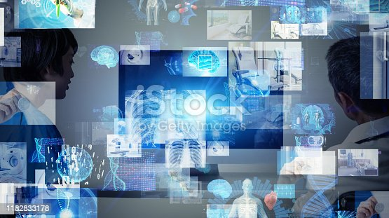 864464934istockphoto Medical technology concept. Telemedicine. Remote madicine. 1182833178