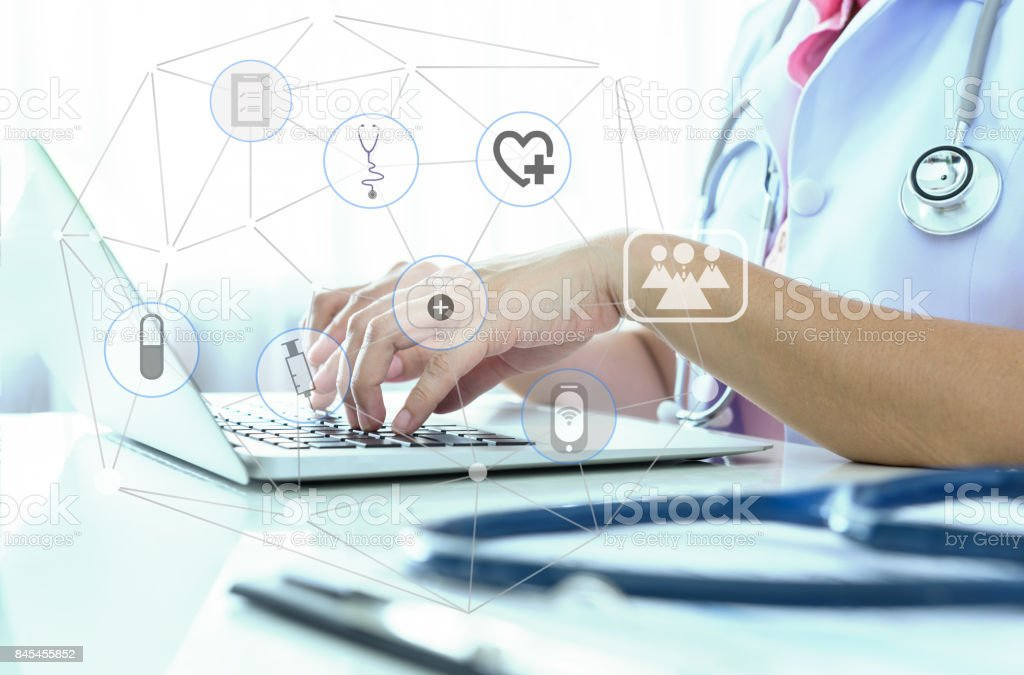 medical technology network stock photo