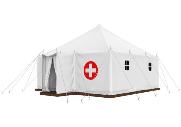 medicinsk tält isolerade - temporär bildbanksfoton och bilder