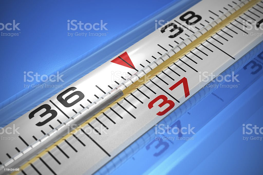 Medical thermometer royalty-free stock photo