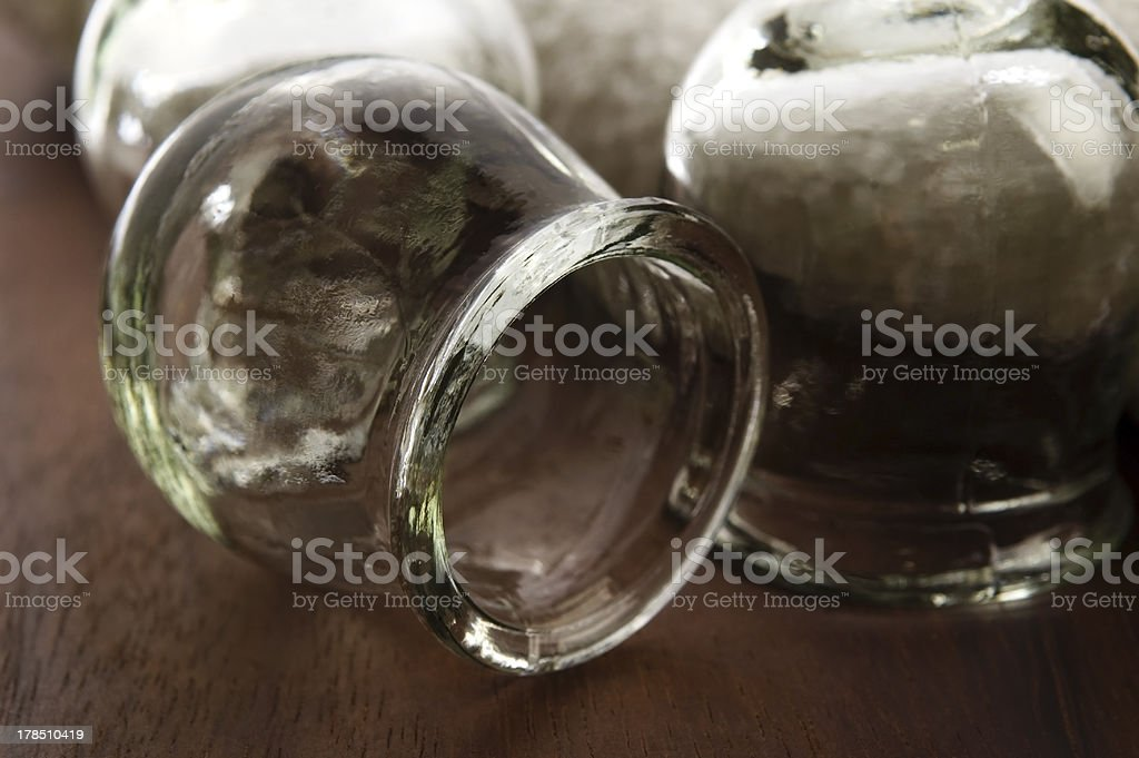 Medical tool cupping glass stock photo