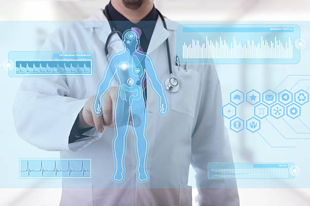medical touchscreen - digital viewfinder stock photos and pictures