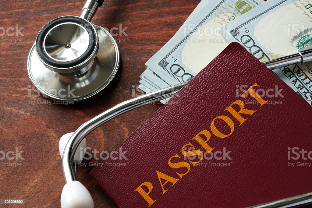 Medical tourism concept. stock photo