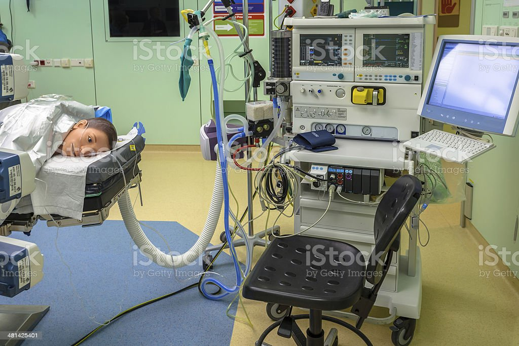 Medical Traing Facility with Dummy Doll in Operation Room stock photo