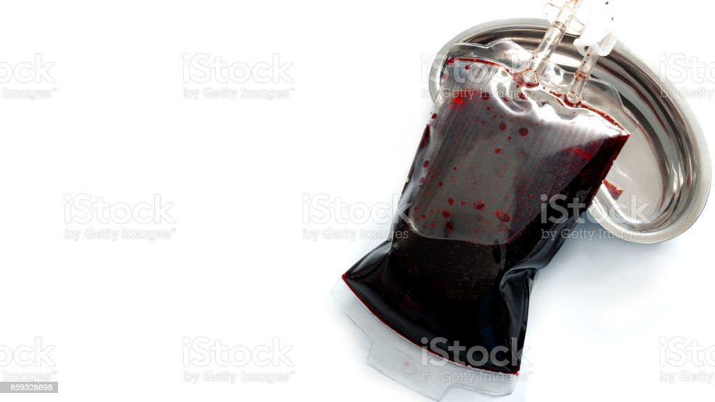 Medical transfusion in a sterile environment and hospital procedures concept stock photo