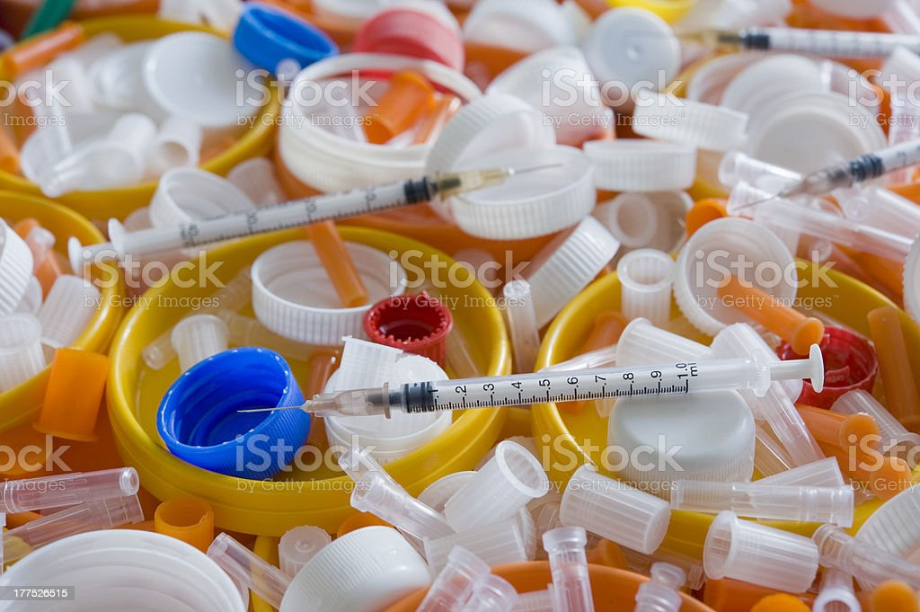 Medical trash stock photo