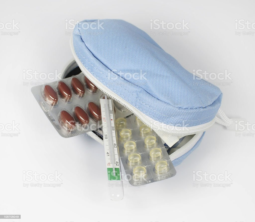 medical travel kit stock photo