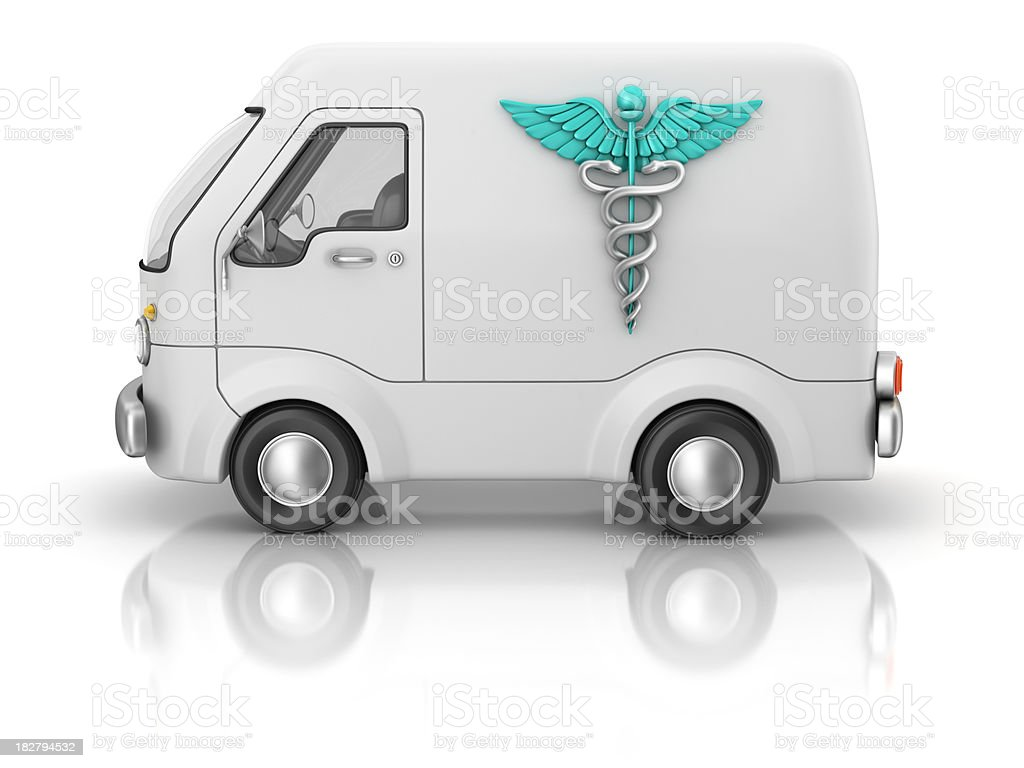 medical truck stock photo