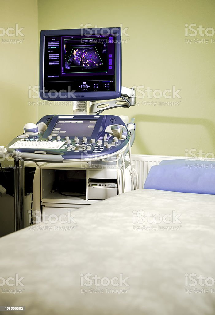 Medical ultrasonography machine royalty-free stock photo