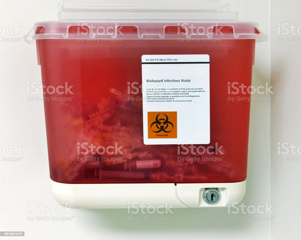Medical Waste Container stock photo