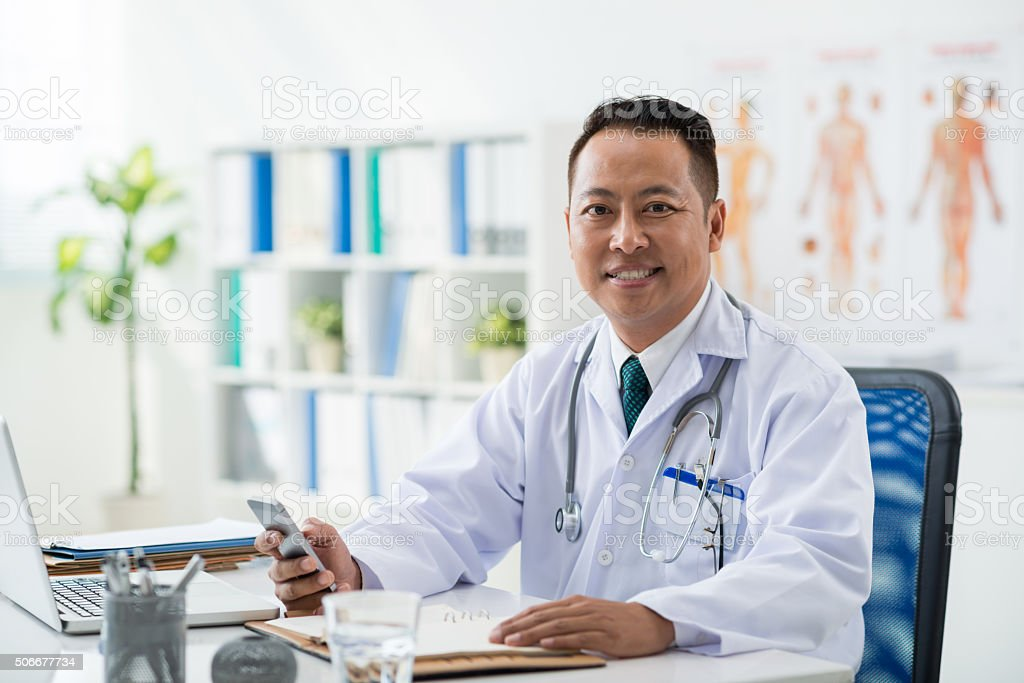 Medical worker stock photo