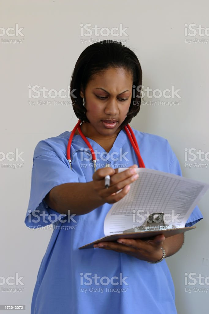 Medical Worker With Chart royalty-free stock photo