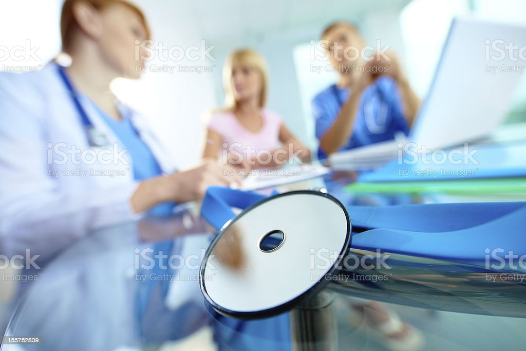 Medical workplace royalty-free stock photo