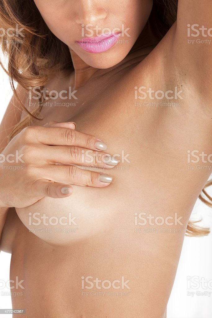 Medical:Breast Examination For Signs of Cancer Lumps stock photo