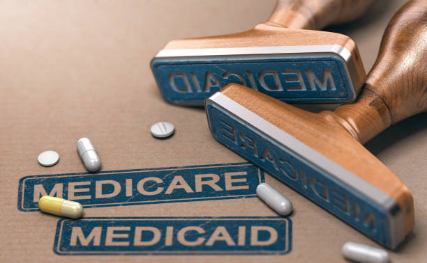 Medicare and Medicaid, National Health Insurance Program In The United States. stock photo