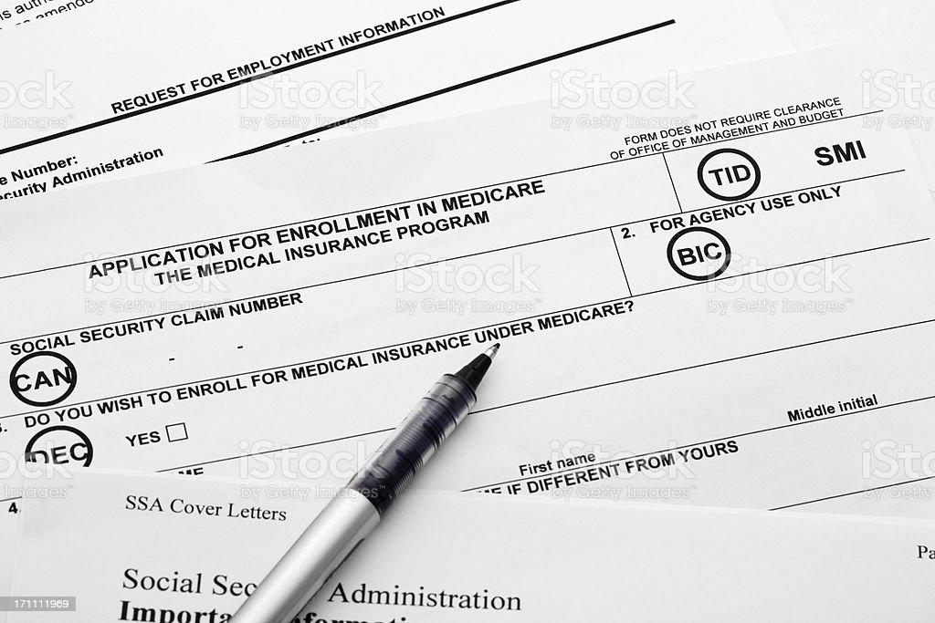 Medicare Application stock photo