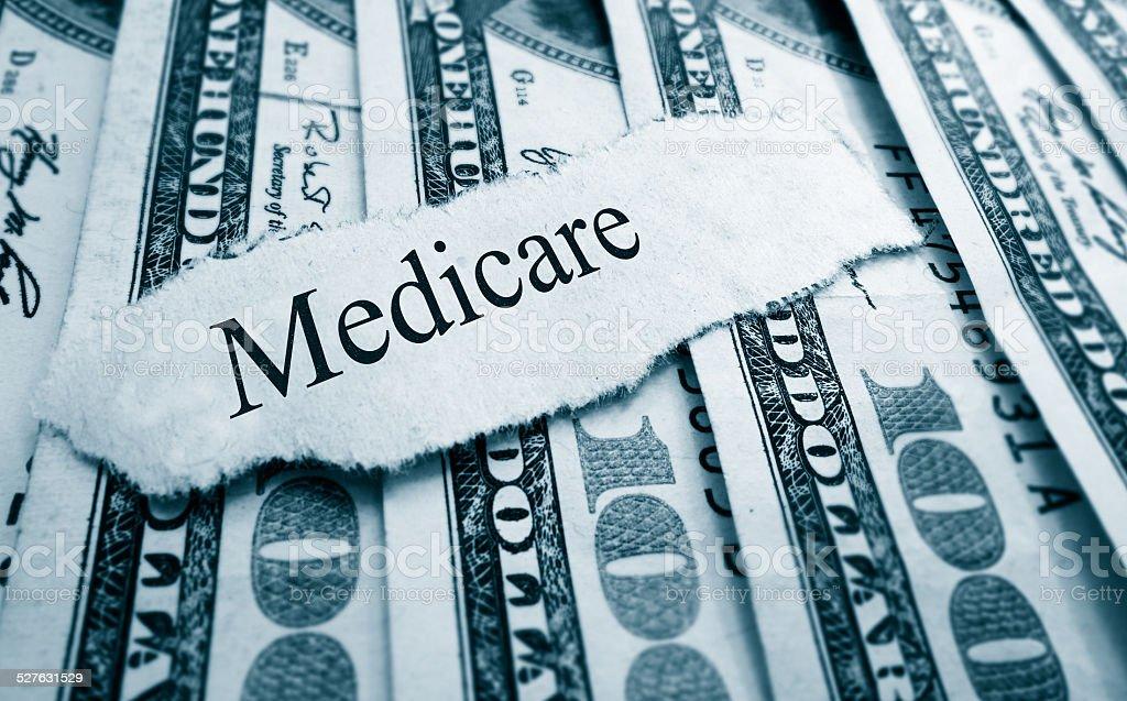 Medicare bills stock photo