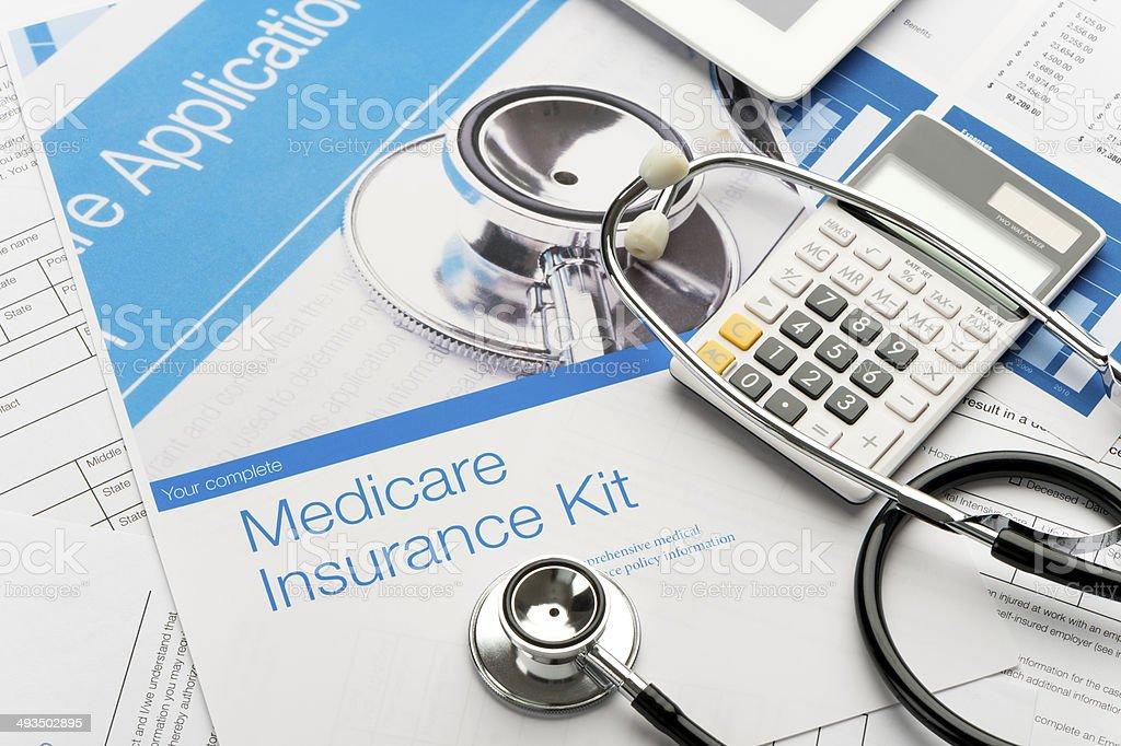 Medicare brochure stock photo