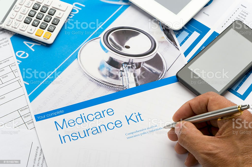 Medicare brochure stock photo