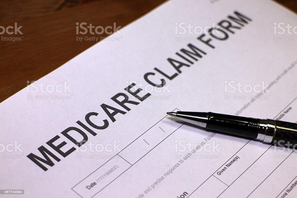 Medicare Claim Form stock photo