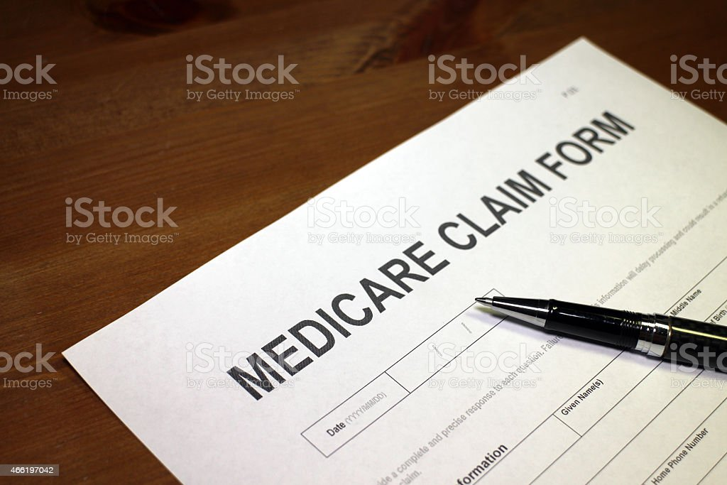 Medicare Claim stock photo