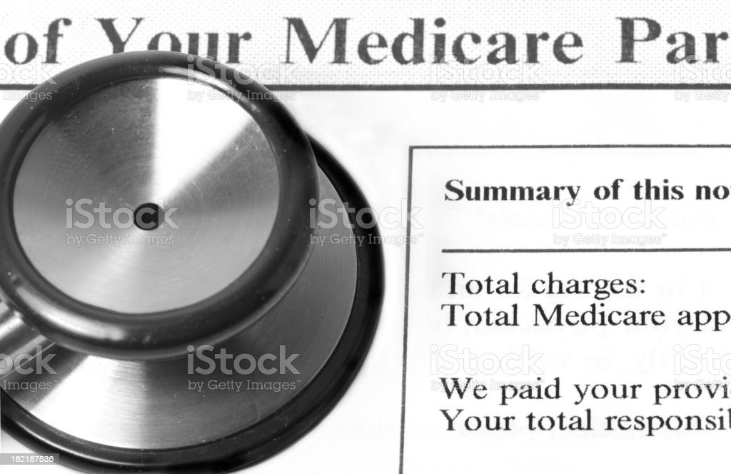 Medicare Coverage royalty-free stock photo