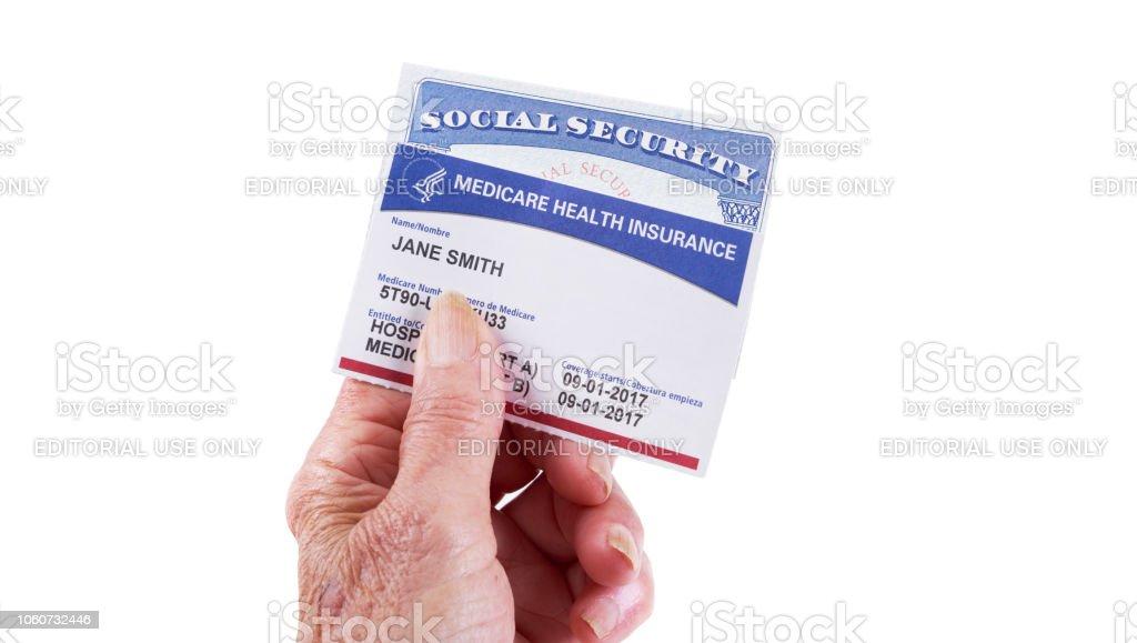 Medicare Health Insurance Card And Social Security Card