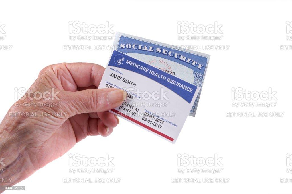 Medicare Health Insurance Card And Social Security Card ...