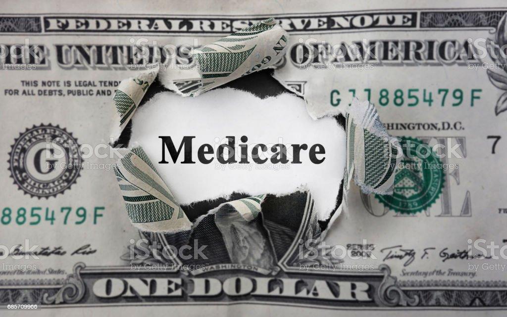 Medicare money news stock photo