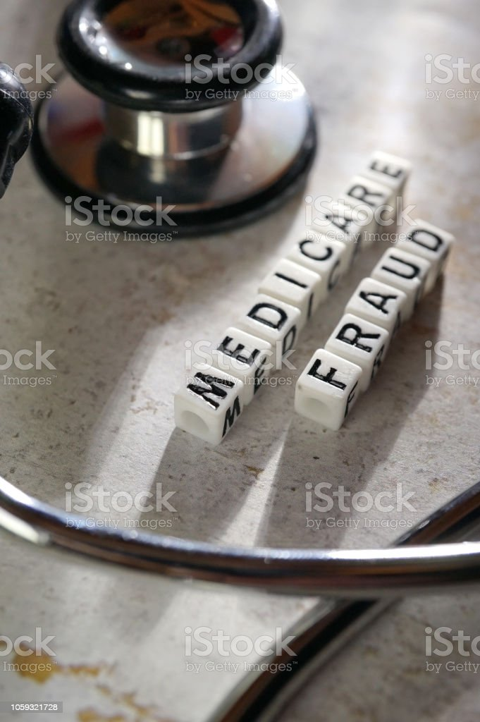 close up of word medicare block letter