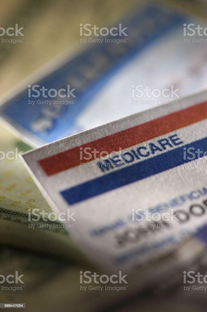 shot of medicare card