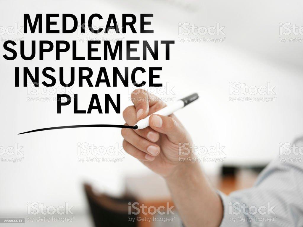 Medicare supplement insurance plan stock photo