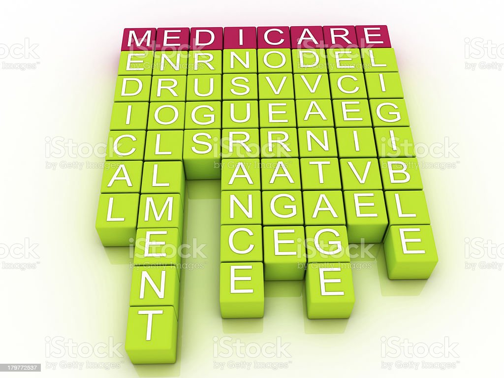 Medicare Word Cloud Concept stock photo