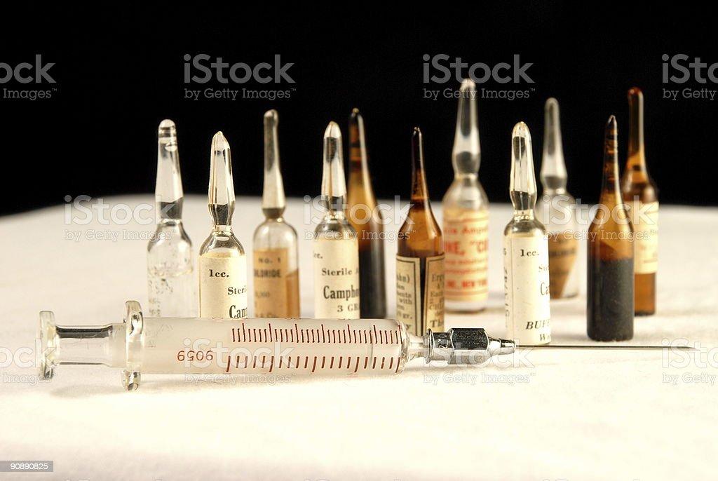 Medication ampules royalty-free stock photo