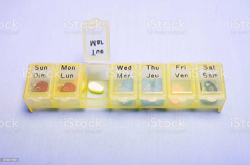 Medication Box - Tuesday royalty-free stock photo
